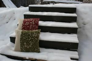 Kudda på trappa