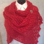 469. Hallonröd sjal
